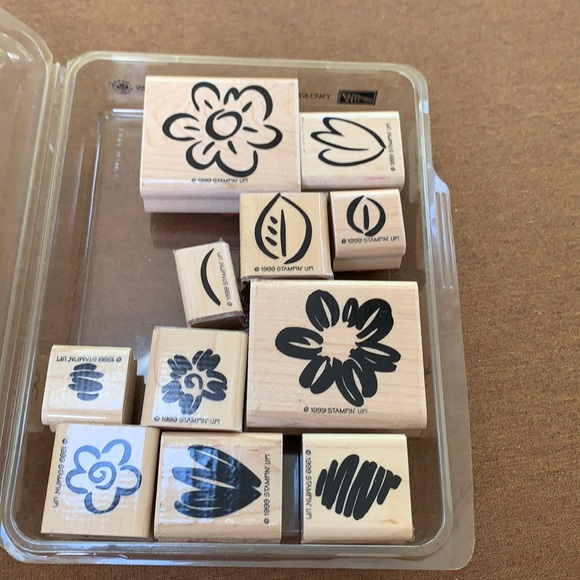 """Stampin' Up 10 pc""""Fanciful Flower""""stamp collection"""